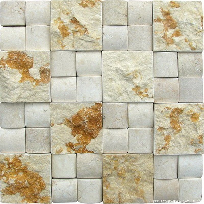 Sunny Beige 3D Marble Mosaic
