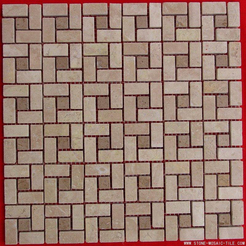 Pin Wheel China Travertine Mosaic Tile