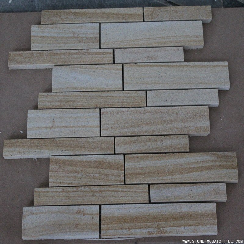 Honed sandstone mosaic tile