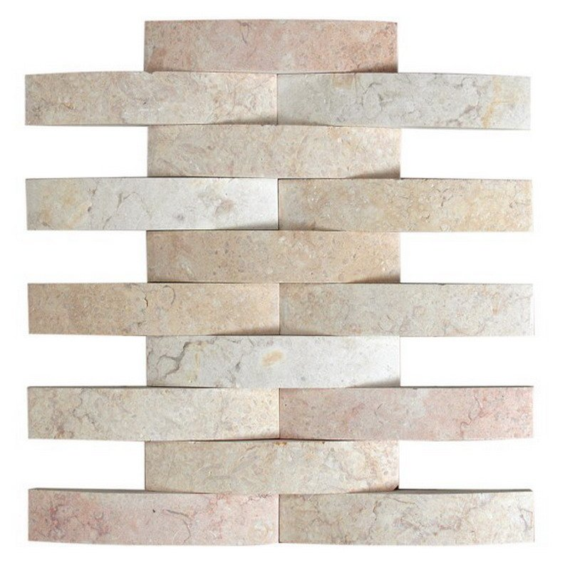 Big wave marble mosaic tile