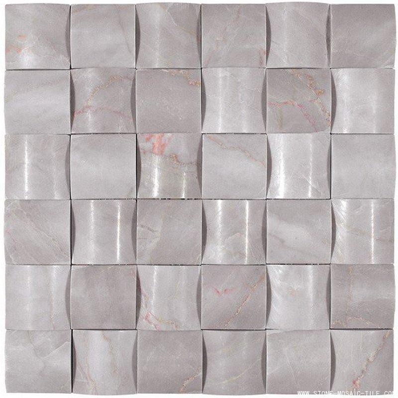 White Onyx Diamond Mosaic Tile Eastwood
