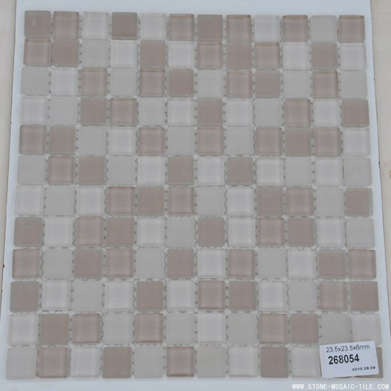 Chip size 23.5x23.5mm glass mosaic tile