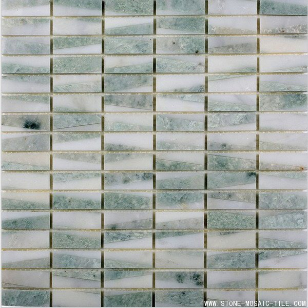 Ming green marble mosaic 17x48cm