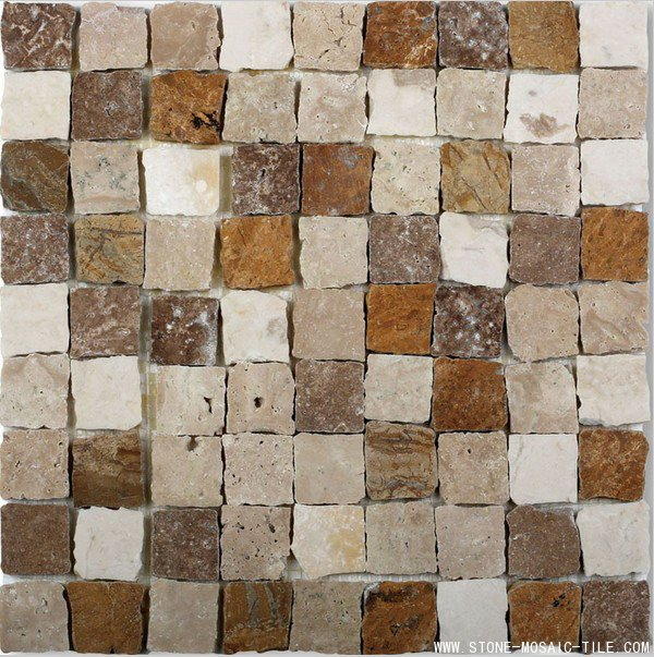 Mix color marble mosaic with broken edges