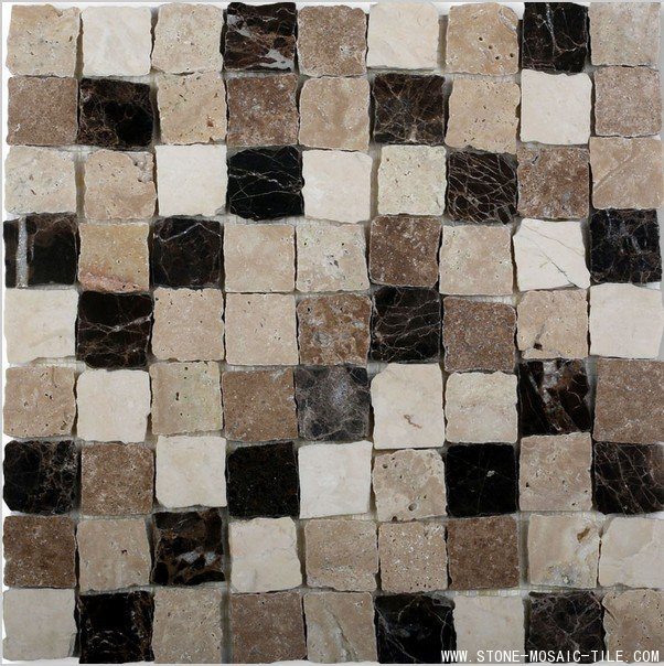 Noche mix travertine mosaic tile for wall
