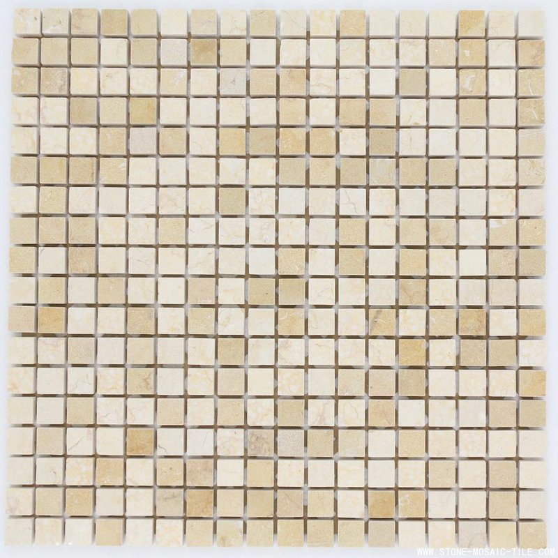 Crema marfil marble mosaic honed 15x15mm chips