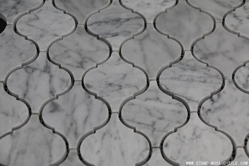 Lantern shape marble mosaic polished