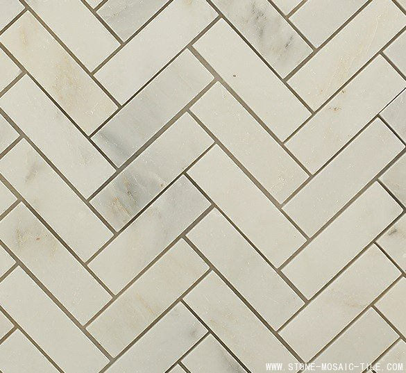 China statuary marble herringbone tile
