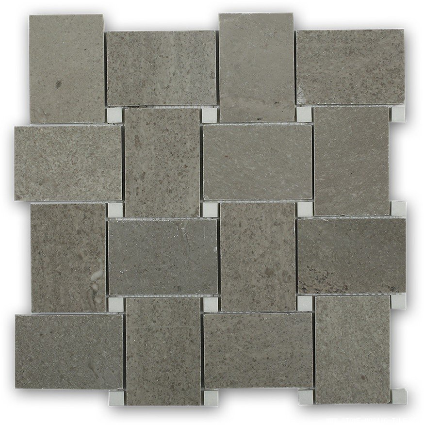 Grey marble with crystal white dot marble tile