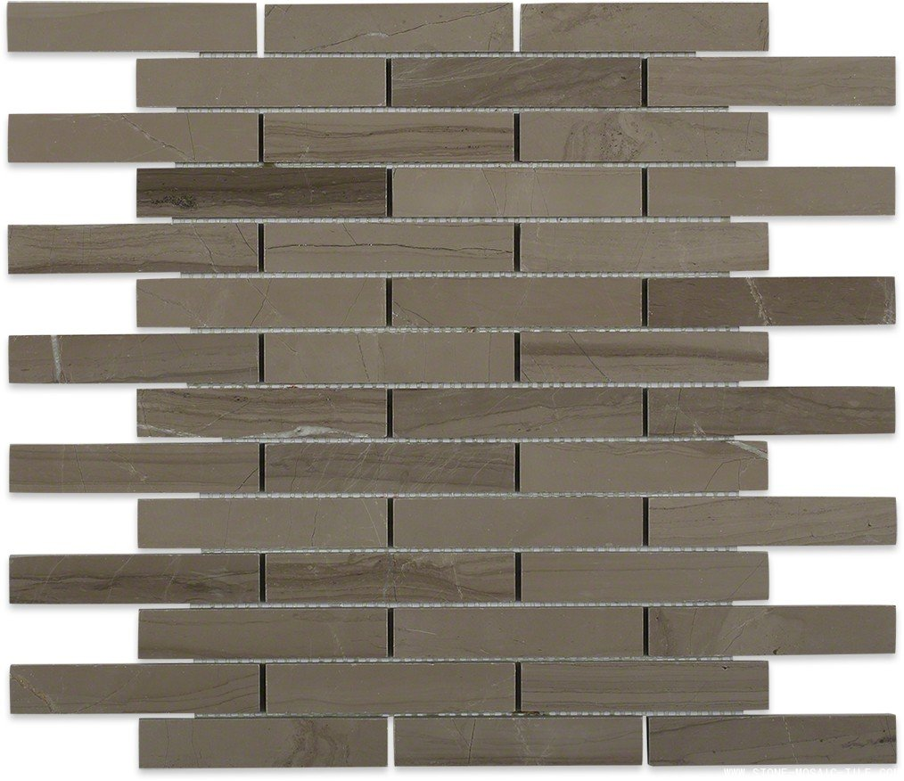 Athens gray marble big brick mosaic tile