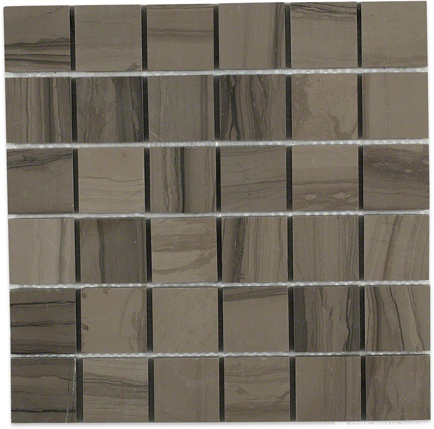 2x2 Athens gray marble honed mosaic tile